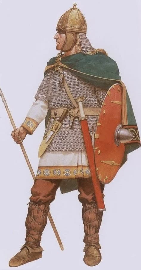 6th-7th century croatian soldier