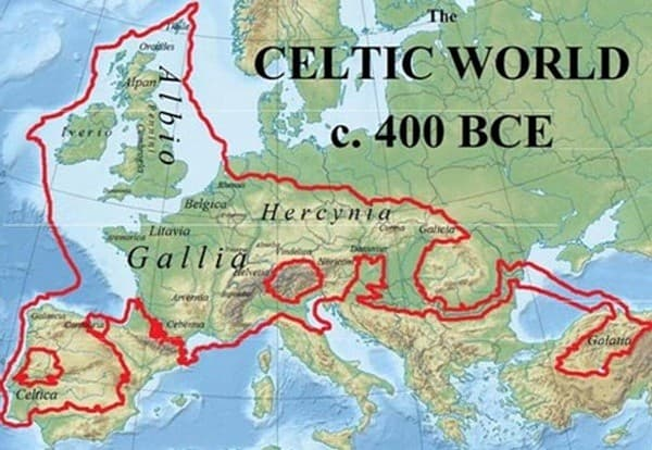 Celtic world map