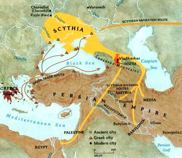Scythians map