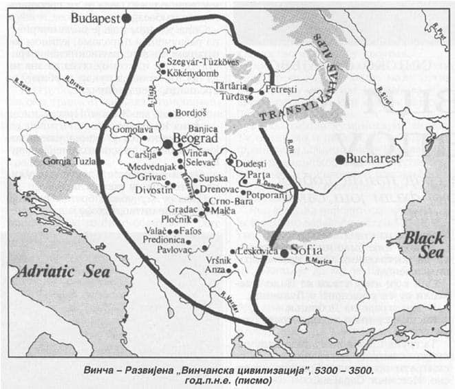 Vincanska civilizacija 5300-3500 g.p.n.e