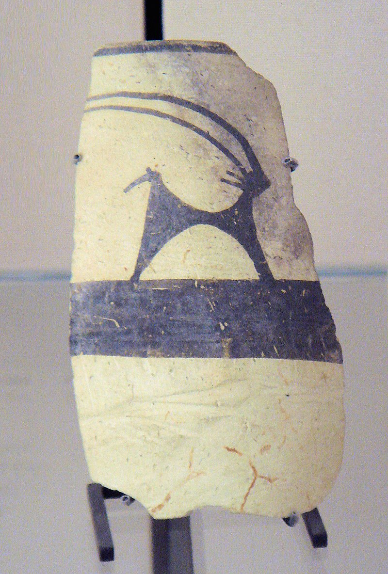 800px-Ubaid IV pottery 4700-4200 BC Tello ancient Girsu Louvre Museum