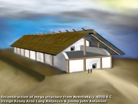 Reconstruction of mega structure Nebelivka