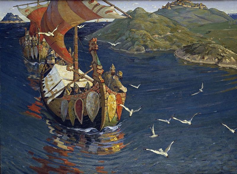 Nicholas Roerich Guests from Overseas
